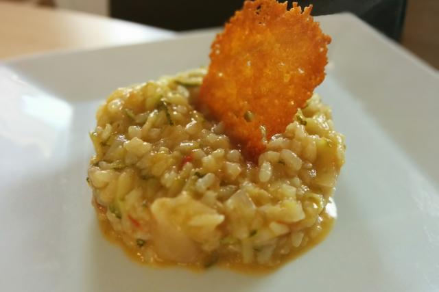 risotto courgettes et tomates mes recettes au cooking chef. Black Bedroom Furniture Sets. Home Design Ideas